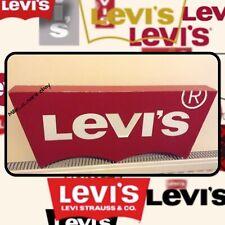 Refurbished Genuine Vintage Levi's Jeans Shop Display Logo Advertising Sign