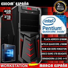 Ordenador PC Gaming Intel Core i3 8100 4GB 1TB ASUS Gtx1050 2GB de sobremesa