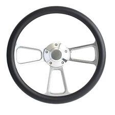 Hot Rod Street Rod Rat Rod Truck  -- Black & Billet Steering Wheel & Horn