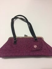 Purple Floral Small Hand/Shoulder Bag Kiss Lock