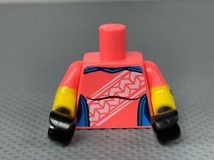 LEGO Minifigure Female Torso Coral Compression Shirt Short Sleeve Bandage on Arm