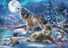 Puzzle Wolfsfamilie im Winter, 1500 Teile, 30% kleinere Teile, Tiere, Bluebird