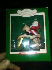 Vintage 1988 Hallmark The Wonderful Santacycle Santa on Bicycle Special Ed