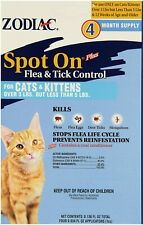 Zodiac Spot on Flea & Tick Control For Cats/Kittens Over 3 lbs Under 5 Lbs