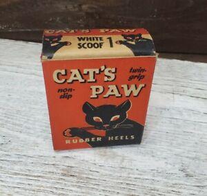 CAT'S PAW Heels General Store Box Vintage Black Cat Halloween Advertising *empty