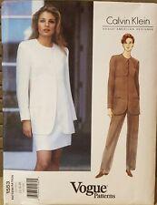 Vogue Calvin Klein 1553 Sewing Pattern Jacket Skirt Pants Size 12-14 16 Uncut