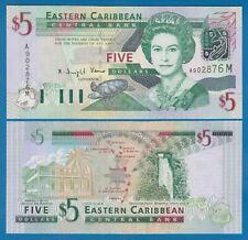 "East Caribbean States 5 Dollars P 42m UNC ""Montserrat"" Low Shipping Combine 42 M"