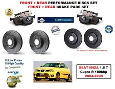 FOR SEAT IBIZA 1.8 T Cupra R 2004-2008 FRONT REAR PERFORMANCE BRAKE DISCS + PADS