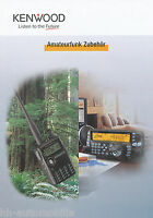 Kenwood Amateurfunk Zubehör Prospekt 2005 Katalog catalog brochure accessories