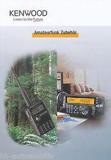 Prospekt Katalog Kenwood Amateurfunk Zubehör catalog accessories 2005