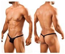 Joe Snyder Bulge Thong Men's Underwear Swimwear Tanga (S, Metal Black)