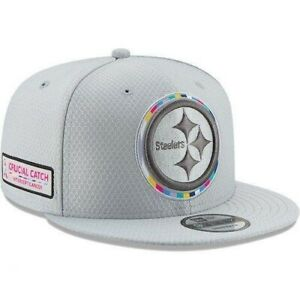 Youth Pittsburgh Steelers NFL New Era Crucial Catch 9FIFTY Snapback Cap - Gray