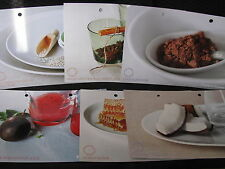 SET OF 6 RE-ENERGISE 2009 tupperware recipe cards BRAND NEW