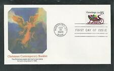 # 2429 CONTEMPORARY CHRISTMAS, SLEIGH  1989 FLEETWOOD First Day Cover (Booklet)