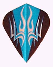 Amerithon  Dart Flights- Blue, Black, Silver Tribal Kite - 1 Set