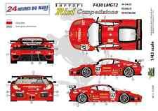 """[FFSMC Productions] Decals 1/43 Ferrari F-430 LMGT2 """"Team RISI"""" (LM 2007)"""