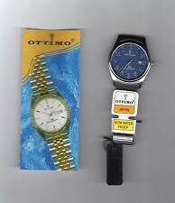 orologio uomo Ottimo Japan,bracciale inox,quadrante blu,30 atmosfere