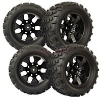 RC 1:10 Monster Bigfoot Off-Road Truck Foam Rubber Tyres Tires & Wheel Rim 88035