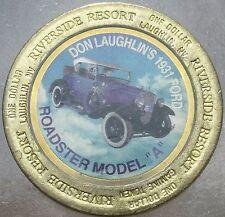 LARGE RIVERSIDE RESORT $1 GAMING TOKEN~1931 FORD ROADSTER MODEL A~FREE SHIPPING~