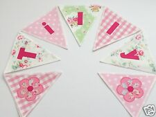 PERSONALISED BUNTING CATH KIDSTON & LAURA ASHLEY FABRIC - £2.50/lettered flag