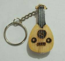 TURKISH WOODEN HAND MADE KEYCHAIN OUD UD ANAHTARLIK NEW !