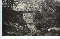 BAD BERTRICH ~1910/20 AK Partie a.d. Käse-Grotte Brücke