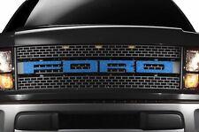 Ford F150 Raptor SVT 2010-2014 Custom Vinyl Decal Grille Letter Overlay - Cobalt