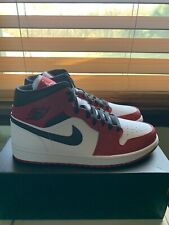 Nike Air Jordan 1 Retro Mid Chicago White Heel Gym Red Bred 554724-173 Sz 9.5-13