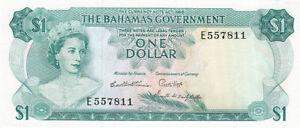 Banknote BAHAMAS 1 DOLLAR 1965 Pick 18b U.N.C !!!!