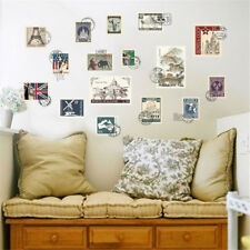 World Scenery Stamps Room Home Decor Removable Wall Stickers Decals Decoration