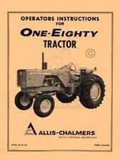 ALLIS CHALMERS 180 One Eighty Owners Operators Manual