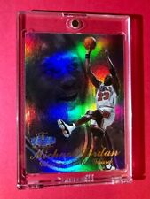 Michael Jordan RARE FLAIR SHOWCASE REFRACTOR 1997-98 Bulls Basketball Card Mint!