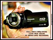 3CCD PANASONIC HDC-SD5 AVCHD w/8gb SD+2 batteries+Orig.Chgr.+Remote+HDMI+CD+BOX