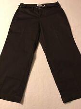 Dockers Brown Stretch Metro Capri Women's Curvy Belted Pants Size 6 Mint!