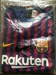 Barcelona Home Shirt 2018/2019 Size M - Replica - Brand New