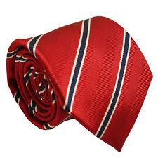 Cravatta rossa con A righe 100% SETA 8cm Wide Uomini Cravatta per uomo occasioni formali