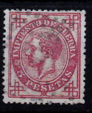 Edifil 187 usado, 5 pesetas, 1876. Alfonso XII España, Spain