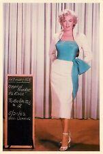 "Marilyn Monroe Blue Top Niagara 4x6"" Postcard Movieland Wax Museum"