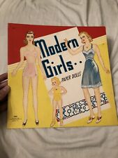 Vintage Saalfield 1943 Wwii Modern Girls Uncut Paper Doll Book with 8 Dolls!