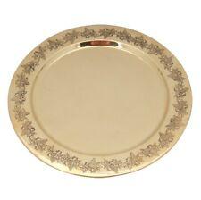 Orthodox Byzantine Vine Brass Holy Bread Dish Plate Candles Diskos Engraved