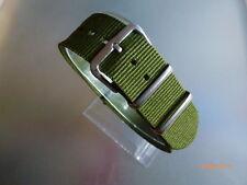 Uhrenarmband Nylon 20 mm grün olive  NATOBAND Dornschließe Textil