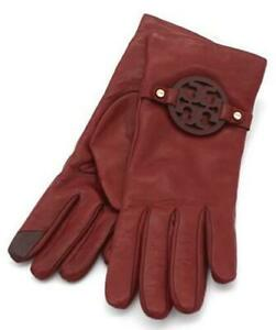 NEW Tory Burch MILLER Driving Leather Gloves in BURGUNDY- SIZE 7 Women's