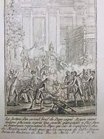 Autodafé du Pape 1791 Palais Royal Paris Royou Révolution Française Catholique