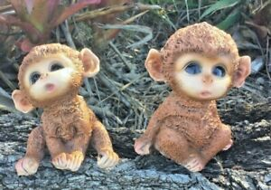 Young Baby Twin Brothers Cheeky Monkey Twins figurines collectible home decor