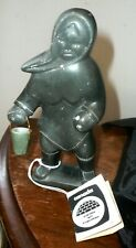 Signed Joe Ittukulak Sanikiluaq 93 Soapstone Carving Eskimo Inuit Art Sculpture