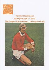 TOMMY HUTCHINSON BLACKPOOL 1967-1973 ORIGINAL HAND SIGNED MAGAZINE CUTTING