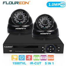 CCTV 4CH 1080N HD DVR Outdoor 2x 1500TVL 720P IP Camera Home Security System Kit