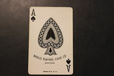Vintage Ace of Spades with Bec Scroll on Back Playing Card