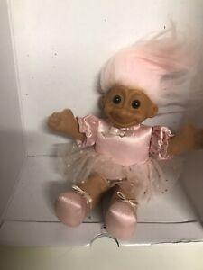 Russ Troll Doll! 7 In.  Pink Hair ! Soft Body! Pretty In Pink Ballerina!