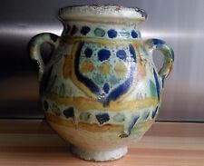 ANCIEN VASE EN FAIENCE  - ARTS D'ORIENT Fin XIXe siècle TUNISIE  attr CHEMLA ?